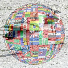 International Cooperation (soniaadammurray - SLOWLY TRYING TO CATCH UP) Tags: beach birds collage manipulated freedom experimental unity global cooperation digitalphotography