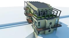 Tarsashaz-Rako_100622_kulso-0003 (archisoft.eu) Tags: 3d visualization architect architecture ptsz ptszet tervez tervezs blockofflat trsashz laks flat budapest