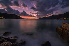 Dusk (Vagelis Pikoulas) Tags: sunset sea sky cloud sun seascape rock clouds canon landscape twilight rocks europe view cloudy dusk tokina greece porto 6d germeno