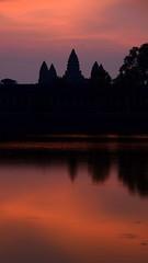 Angkor Wat Reflected at Sunrise (Neil Noland) Tags: temple cambodia angkorwat siemreap