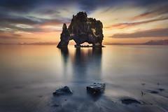 Iceland Hvitserkur 9561 in explore 11-6-2016 (joana dueas) Tags: winter sunset seascape zeiss iceland serenity pace hvitserkur photofeeling joanadueas sonya7r variotessartfe41635