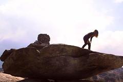 We scout (angeloska) Tags: november mountain ikaria aegean greece signage cairn prettygirl balancingrocks   chalares atheras erifi  ryakas  opsikarias  trailofthetwocanyons