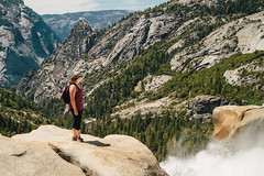 Nevada Falls (rogergabrielgarcia) Tags: park nature canon landscape waterfall hiking explore national yosemite 7d garcia roger