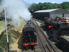 Lakeside & Haverthwaite Railway. (Bennydorm) Tags: greatbritain england black heritage train vintage noir engine steam cumbria locomotive schwartz steamengine haverthwaite