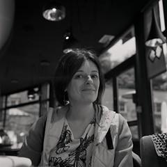 Audrey (✽ Dominique CARON ✽) Tags: portrait 120 6x6 tlr film monochrome rolleiflex mediumformat blackwhite noiretblanc ilfordhp5 hp5 ilford xtol moyenformat rolleiflex35c