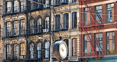 tribeca (poludziber1) Tags: street city nyc travel urban usa ny newyork building clock architecture america colorful cityscape