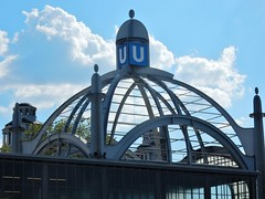 U-Bahn Dome (mikecogh) Tags: berlin station u dome ubahn publictransport curved nollendorfplatz beams