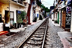 It leads to Hanoi (Melvin Yue) Tags: street city travel houses home colors train 35mm asia vietnamese cityscape colours tracks streetphotography rail railway wanderlust traveller vietnam explore fujifilm lonelyplanet hanoi photooftheday picoftheday natgeo travelphotography travelgram x100s