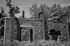 Mur de pierresWall of stones (bob august) Tags: bw canada blackwhite juin nikon montral noiretblanc stones qubec vieillespierres oldnew ahuntsic d90 montreal nikond90 nikkor18300mm parcdeliledelavisitation aperture3