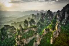 A View from the Heavens (Jim.J.H) Tags: sunset mountains sandstone columns hunan zhangjiajie lateday zhangjiajienationalforestpark