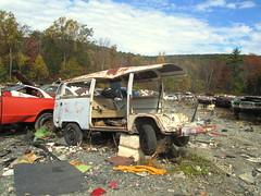 Van Carnage (Joe Folino ( LoopRunner )) Tags: 2 bus rot vw volkswagen rust decay ii type junkyard scrapyard van camper destroyed minibus veedub type2