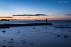 Good Morning Norway (Normann Photography) Tags: people aftermidnight coast coastline friend longexposure man molo nightphotography person pier rocks sea seascape shore shoreline silhouette tnsberg vestfold norway no guy pondering mesmerized