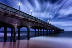 Boscombe Blues [Explored] (Langstone Joe) Tags: longexposure blue seascape clouds coast pier coastal bournemouth boscombe boscombepier firecrest16stopndfilter