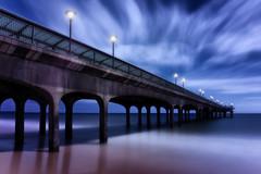 Boscombe Blues (Langstone Joe) Tags: longexposure blue seascape clouds coast pier coastal bournemouth boscombe boscombepier firecrest16stopndfilter