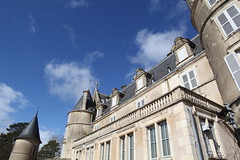 Vue depuis Faade sud (volcan642012) Tags: blue sky castle french towers southern loirevalley 16thcentury