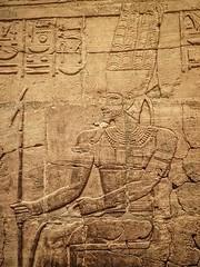 Closeup of relief on the Shrine of the 25th dynasty pharaoh and Kushite King Taharqa  Egypt 7th century BCE (6) (mharrsch) Tags: architecture temple worship shrine god unitedkingdom religion egypt oxford 7thcenturybce myth deity basrelief hieroglyph ashmoleanmuseum taharqa lateperiod 25thdynasty mharrsch