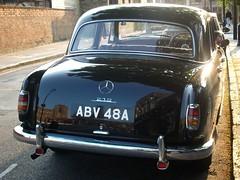 Mercedes Benz 219   Greenwich 07/05/13. (Ledlon89) Tags: london cars greenwich mercedesbenz 1960s classiccars mercedes219 alltypesoftransport