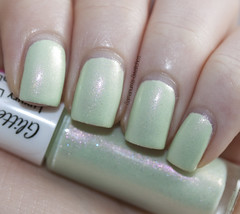 GlitterDaze Mint Summer Night (Samarium's Swatches) Tags: green creme shimmer mintgreen glitterdaze