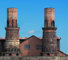 Sderfors, Old Chimneys (Olof S) Tags: old wallpaper abandoned nature skyline architecture rural landscape photography landscapes countryside photo interesting nikon scenery europe view sweden decay schweden country swedish uppsala coolpix environment nordic sverige scandinavia paysage landschaft chimneys paesaggio suede decadence suecia sderfors landskap manzara shabby svezia skorsten szwecja frfall jrnbruk jrnverk s6300
