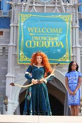 "Merida from ""Brave"" becomes 11th Disney Princess at Walt Disney World (insidethemagic) Tags: princess ceremony 11 disney merida pixar brave crown waltdisneyworld themepark magickingdom coronation disneyprincess cinderellacastle"
