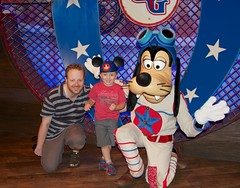 Cash and Daddy with The Great Goofini - Magic Kingdom's Storybook Circus - WDW - 5.13 (meanderingmouse) Tags: travel goofy disney cash disneyworld canonef24105mmf4lis