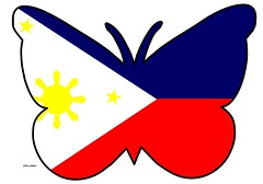 Butterfly Themed Philippine Flag (Jinky Dabon) Tags: philippineflag butterflythemedflags downloadflagsforfree