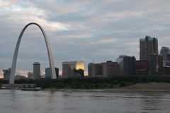 St. Louis Skyline (dougclemens) Tags: saint st skyline river mississippi louis downtown arch gateway d5100