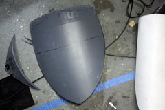 Shield WIP2 (Tsabo Tsaboc) Tags: knights impact cedric shield sir props hillsdale sculpting