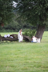 Getting muddier (Ian Press Photography) Tags: wedding mill trash river bride photo suffolk shoot dress photoshoot mud country marriage messy gown bridal essex dedham muddy constable stour flatford