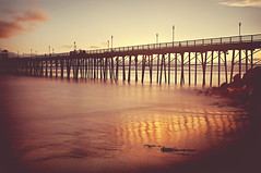 summer arrives with a length of lights (pixelmama) Tags: california sunset pier thedecemberists oceanside hcs summersong clichesaturday summerblowsaway andquietlygetsswallowedbyawave summerarriveswithalengthoflights butnotforafewmonthsyet