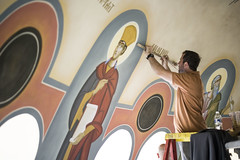Greek Orthodox Church (Jilly Burns) Tags: art greek icons christ greece artists christianity iconography orthodoxchristianchurch