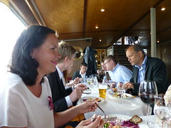 Enjoying the food and the company (seikinsou) Tags: cruise summer food dinner finland table ship midsummer turku buffet excursion archipelago outi msrudolfina