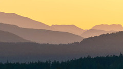 Base layer (Damon D. Edwards Photography) Tags: sunset summer nikon bearmountain pacificnorthwest wa layers gardiner pnw highway101 d800 lookouthill bellhill burnthill damondedwards damonedwardscom