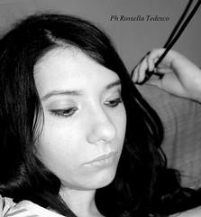 ritratto 2 (Rossella Tedesco) Tags: donna italia sguardo cs bianco ritratto nero calabria viso capelli faccia cosenza rossano