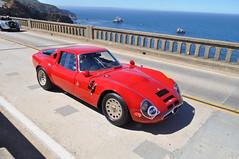 1967 Alfa Romeo TZ2 Zagato Coupe, Pebble Beach Concours Tour 2013 (SpeersM5) Tags: bridge beach creek tour pebble 1967 alfa romeo concours coupe bixby zagato 2013 tz2 pebblebeachconcourstour