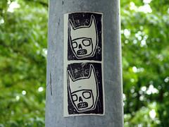 batboy batboy (slundeen) Tags: seattle streetart art face bat tags slap utilitypole capitolhill batboy slaptag slaptags