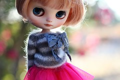 Looking forward to Fall ~ (voo_doolady) Tags: wearing sweater doll pin little skirt grace blythe custom parson middie cakau vainilladolly wendyweekender