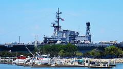 USS Midway from Embarcadero (Al_HikesAZ) Tags: california ca museum harbor san sandiego aircraft diego navypier aircraftcarrier midway uss carrier ussmidway ussmidwaymuseum alhikesaz sandiego2013