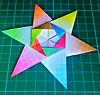 6 Point Star - Folded According Francis Ows And Dirk Eisners Cross Modul Ideas