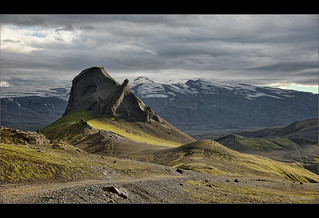 Mt Einhyrningur – Unicorn mountain. Roca Unicornio o Escarabajo con cuerno. Islandia.
