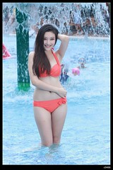 nEO_IMG__MG_3345 (c0466art) Tags: school light portrait orange color pool girl smile face female canon nose nice asia pretty sweet outdoor quality taiwan suit bikini figure attractive 5d charming pure swiming c0466art