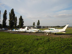 Flightless Birds, N Weald (roger.w800) Tags: abandoned plane airplane crash aircraft dump aeroplane damage damaged scrap salvage essex cessna airfield weald emergencylanding crashlanding lightaircraft northweald essexairfield gvdir cessnat310r nweald