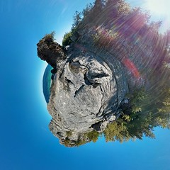 seastack near little cove tiny planet (jmcunnin2000) Tags: family hiking cottage kayaking brucepeninsula brucetrail capehurd capehurd13