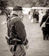 On Guard (Jim Frazier (recovering - will be around more)) Tags: park portrait people blackandwhite bw monochrome gardens museum sepia botanical illinois october war uniform action military guard parks dupage il portraiture photowalk botanic guns muskets desaturated uniforms activity candids botanicgarden horticulture preserve botanicalgarden reenactment weapons reenactors q3 wheaton publicgarden cantigny reenacting warfare oldified dupagecounty cantignypark wscf 2013 5000people ldoctober ©jimfraziercom adifferentpersona wmembed ld2013 cantignyphotowalk 20131005cantignykelbyphotowalk