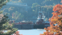 Tug and Barge (blazer8696) Tags: usa ny newyork station river boat unitedstates poughkeepsie tugboat tug barge ecw hudsonheights 2013 dscn4758 t2013