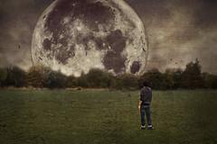 Lunar (Michael Savage) Tags: moon selfportrait male art texture field clouds landscape photography surrealism fineart fine creative surreal conceptual thor lunar fineartphotography foals grandeur splittone michaelsavage
