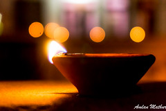 Lamps (Amlan Mathur) Tags: november light india lamp october asia bokeh handmade traditional flame clay oil copyspace diwali celebrate earthenware deepavali diya