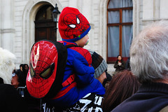 Spiderman at London New Year's Day Parade!