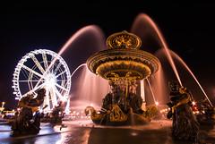 La roue de Paris et la fontaine de la Concorde (sebastien.mespoulhe) Tags: paris wheel night photo place concorde fontaine nuit foutain roue d800