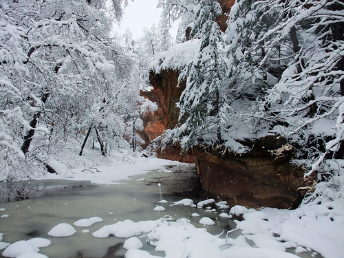 Oak Creek Trail in Winter